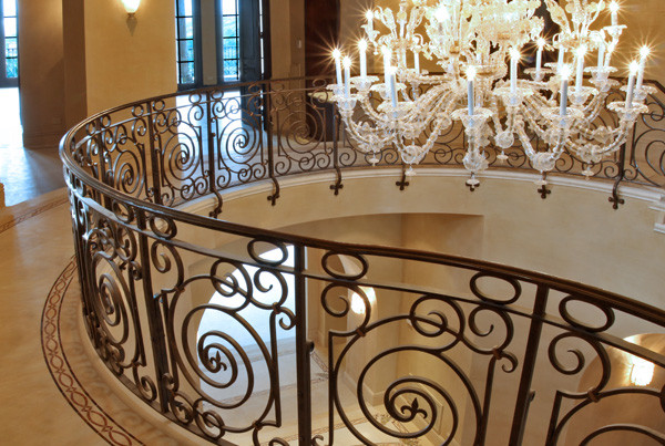 Hand-forged-interior-railing