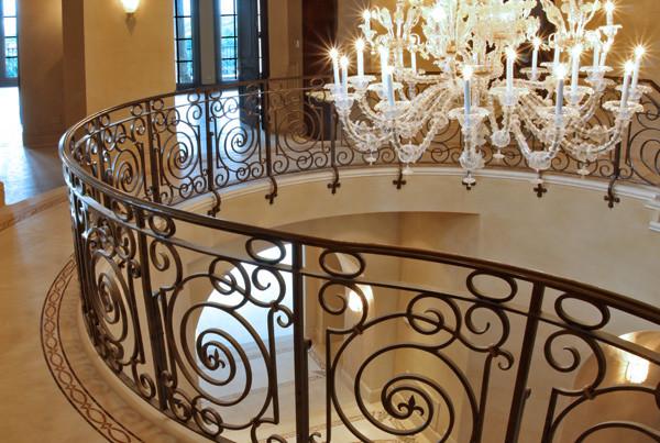 Hand-forged-interior-railing